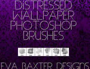 6种真实的壁纸、墙纸背景纹理图案photoshop笔刷素材下载