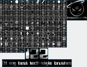 122种装饰性符号图案photoshop笔刷素材