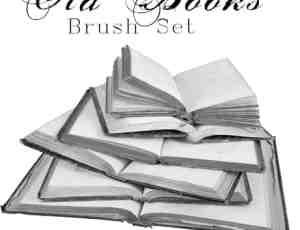 老旧图书书本、真实的书籍photoshop笔刷素材下载