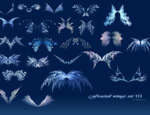 梦幻分形翅膀艺术photoshop笔刷素材下载 #.3