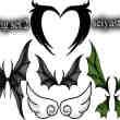 手绘妖精翅膀、恶魔翅膀、精灵翅膀、吸血鬼翅膀、蝙蝠翅膀PS笔刷素材#.2