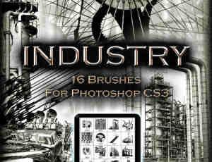 16个工业石油气建筑物photoshop笔刷素材