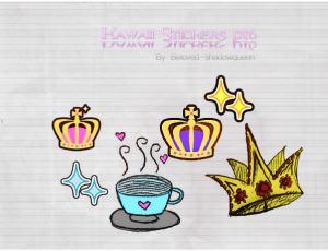 卡通涂鸦皇冠、咖啡美图秀秀png素材包下载
