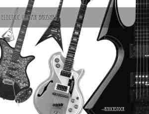 真实的电吉他、贝斯photoshop笔刷素材