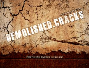 真实的水泥石灰沙土墙面裂缝、裂纹photoshop笔刷素材