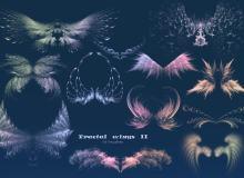 梦幻分形翅膀艺术photoshop笔刷素材下载 #.2