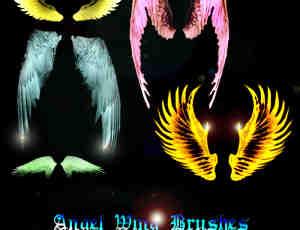 梦幻光影天使、恶魔羽翼翅膀photoshop笔刷素材