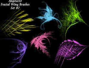 酷酷的光影分形翅膀photoshop笔刷素材#.7