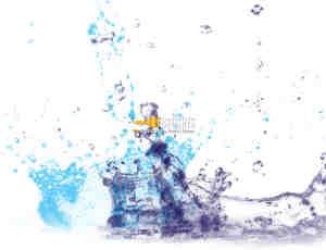 水花、水滴滴落溅起效果photoshop笔刷素材