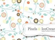 漂亮的小清新植物花纹Photoshop填充图案文件底纹素材 .pat