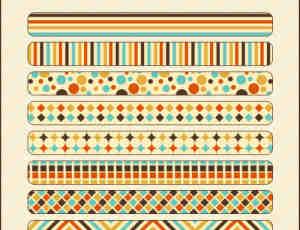 9种漂亮的小清新PS填充底纹素材下载