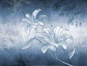漂亮的手绘百合花Photoshop笔刷素材下载