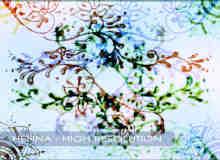 手工手绘印染式花纹图案photoshop笔刷素材