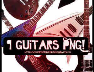 潮流吉他png素材装扮美图秀秀素材包下载