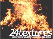 24种高品质火焰真实燃烧纹理photoshop笔刷素材下载