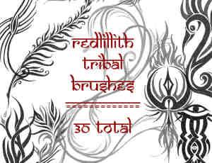 神秘部落线条图案装饰photoshop笔刷素材