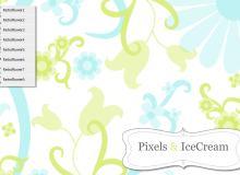复古矢量效果的艺术植物花纹PS装饰笔刷