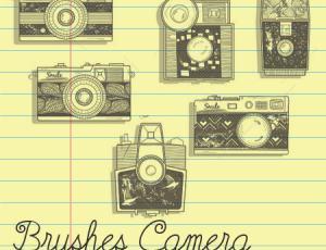 手绘卡通相机素材PS笔刷