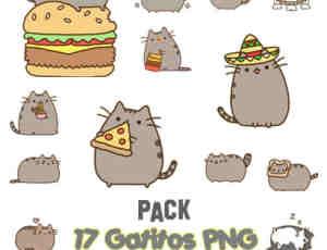 呆萌卡通猫咪PNG透明图片美图秀秀素材包