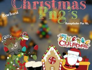 一套圣诞节卡通装扮美图秀秀png饰品素材下载
