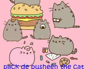 呆萌卡通猫咪PNG透明图片美图秀秀素材包 #.10