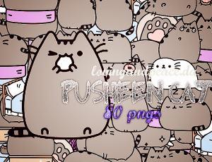 呆萌卡通猫咪PNG透明图片美图秀秀素材包 #.4