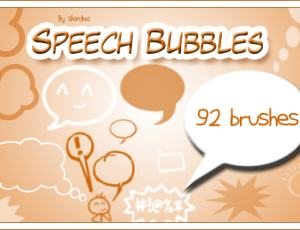消息框、对话框、对白气泡框Photoshop素材笔刷