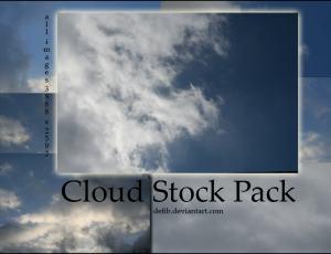 真实的蓝天白云背景场景PS笔刷素材