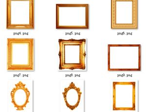 欧式古典画框、照片框架边框素材【美图秀秀笔刷】