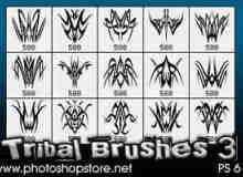 部落纹饰图案、纹身花纹Photoshop笔刷 #.3