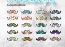 21种卖萌、装可爱专用胡子素材【美图秀秀笔刷包】