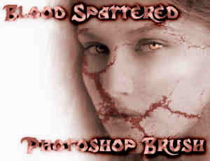 破碎干涸裂纹、血纹Photoshop笔刷素材