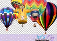 已背景透明!超酷热气球素材【美图秀秀笔刷包】