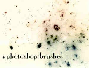 旧色灰质斑点痕迹Photoshop笔刷素材