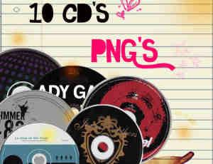 已扣图!10种CD唱片【美图秀秀素材】