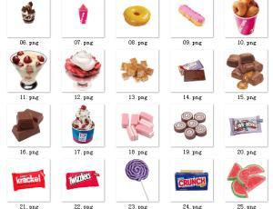 冰欺凌、甜甜圈、巧克力等甜品【美图秀秀素材包】