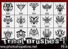部落纹饰图案、纹身花纹Photoshop笔刷