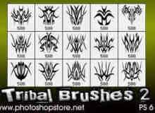 部落纹饰图案、纹身花纹Photoshop笔刷 #.2