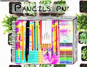 七彩铅笔、蜡笔图片素材【美图秀秀素材包】