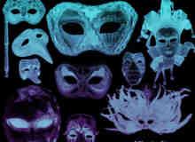 面罩、面具装扮饰品Photoshop笔刷素材