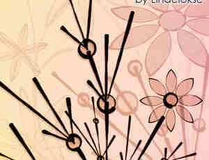 简单植物鲜花背景图案Photoshop笔刷