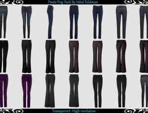 已扣图!20种女式长裤、牛仔裤、西装裤等服装素材【美图秀秀素材包】