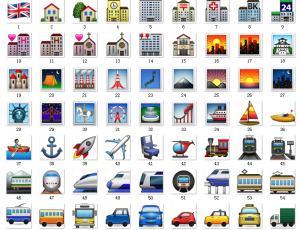 160*160像素Emoji城市、交通、国旗表情素材包免费下载#.2