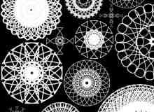 罗盘线条花纹图案PS笔刷素材下载