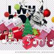 圣诞节彩球、袜子、圣诞老公公、圣诞礼物盒等图片素材