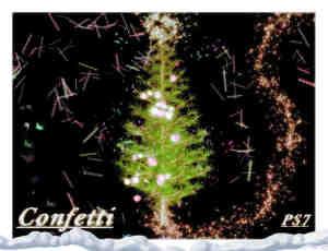 圣诞节圣诞树上装饰品Photoshop笔刷
