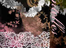 高品质漂亮的蕾丝边花纹图案、裙边Photoshop笔刷素材