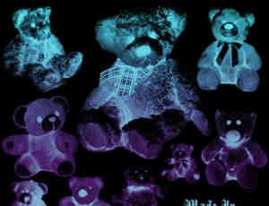 泰迪熊、熊娃娃、玩具熊Photoshop笔刷素材