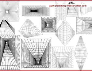 数字空间、数字走廊背景PS笔刷