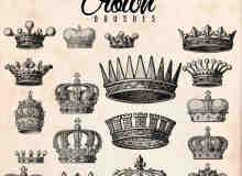 19种手绘国王皇冠Photoshop笔刷